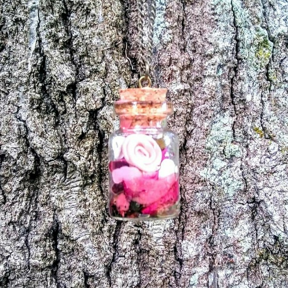 Handmade Jewelry - Love Spell Goddess of Love Jar Necklace